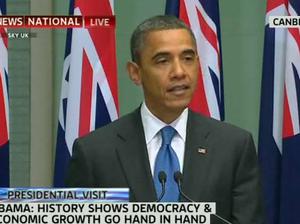 Barack Obama addresses parliament