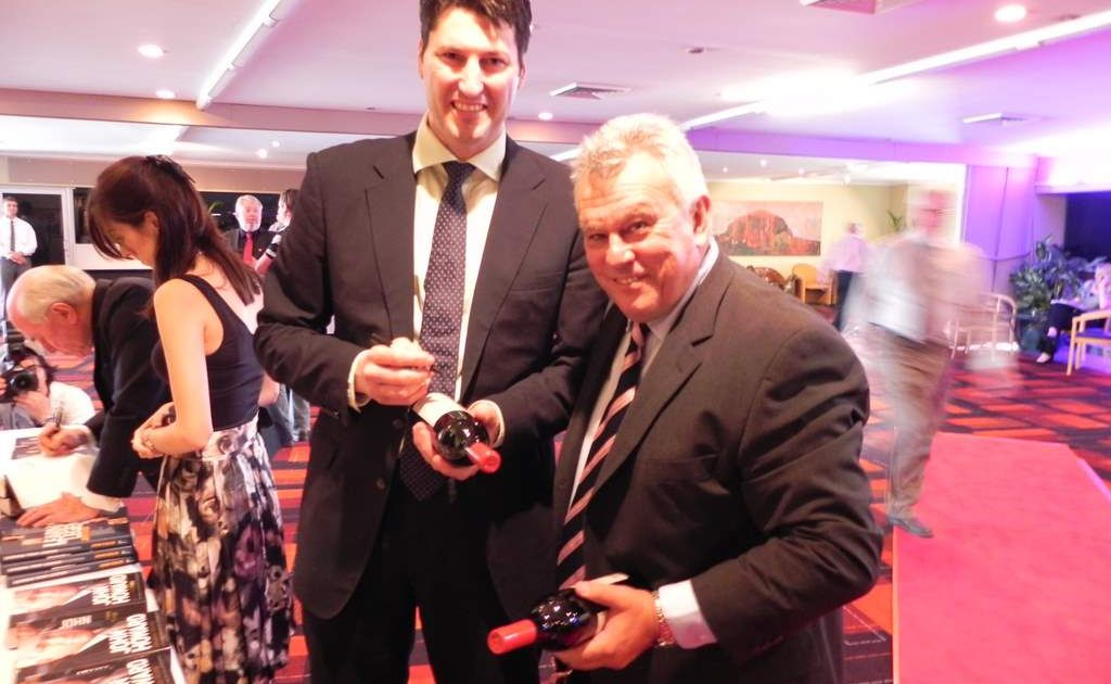 Wallaby great John Eales with former coach John Connolly at a Nambour function. FILE IMAGE