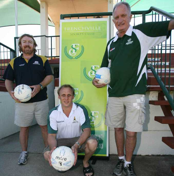 Sporting Wheelies Michael Oxley, Queensland player David Barber and Frenchville's Terry Kennedy are looking forward to the National Paralympic football championships at Rockhampton over Easter.