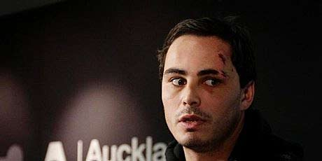 All Black Zac Guildford after arriving back from his Cook Island escapade.