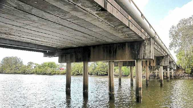 A Caboolture man, 41, has died after running into a Petrie Creek Bridge pylon in a tinnie.