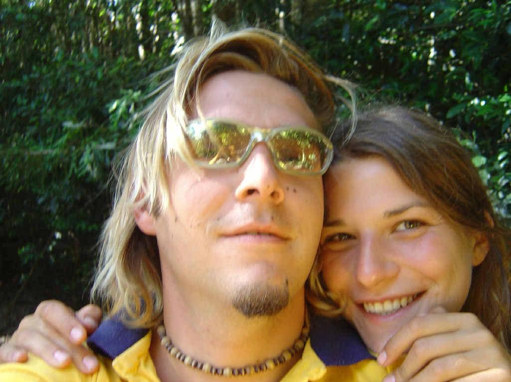 Simone Strobel and her then boyfriend, Tobias Suckfuell.