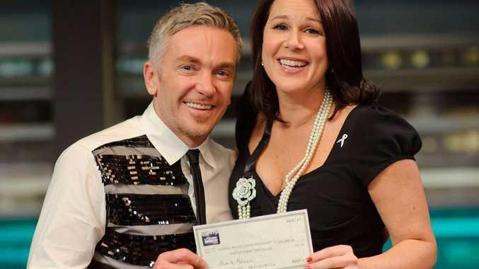 Celebrity Apprentice winner Julia Morris and runner up Jason Coleman.