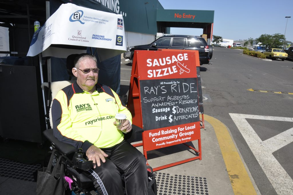 Ray Colbert has set off on a five-day ride to raise awareness about asbestos-related disease.