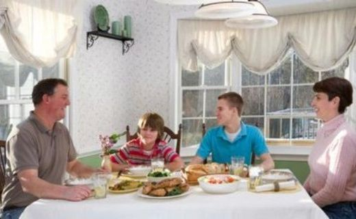 Teens who eat with parents are less likely to be depressed.