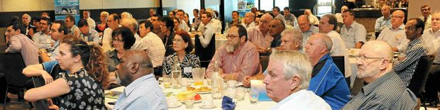 Forum members at the Bundy for Breakfast function held at the Bundaberg RSL.