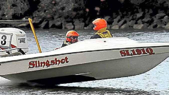 Slingshot, the boat that will tow former Australian representative water skier Susan Cartwright in the Woodburn Bridge to Bridge this weekend.