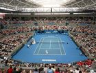 Pat Rafter at the Brisbane International Tennis Tournament.