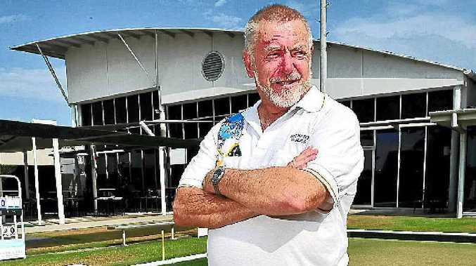 HAPPY MAN: Noosa Heads Bowls Club president Richard Wales.