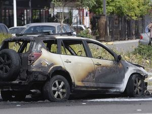 Lucky escape after car combusts