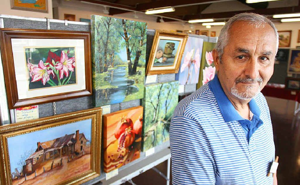 Artist Iraj Family has a selection of his work on show at the Ipswich Community Gallery as part of an exhibition by Lockyer Valley Artists.