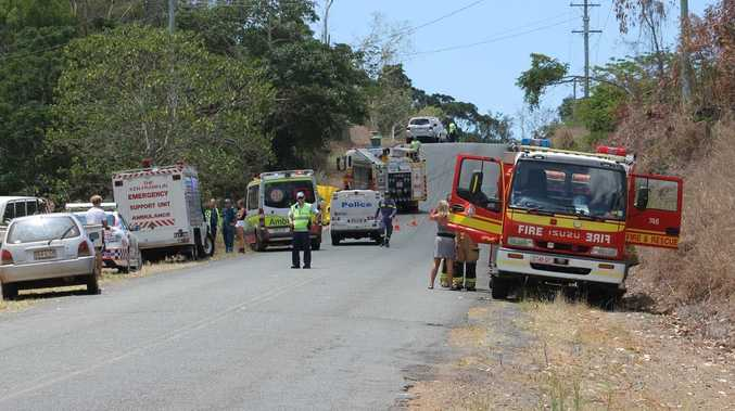 TRADGEDY: The scene at Paluma Road at Woodwark on Saturday. Photo Aimee Vinci / Whitsunday Times