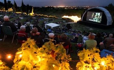 Watch movies beneath the stars at Black Barn Vineyards in Havelock North.