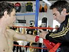Michael Katsidis and Brendon Smith prepare to train at Smithy's Gym earlier this year.