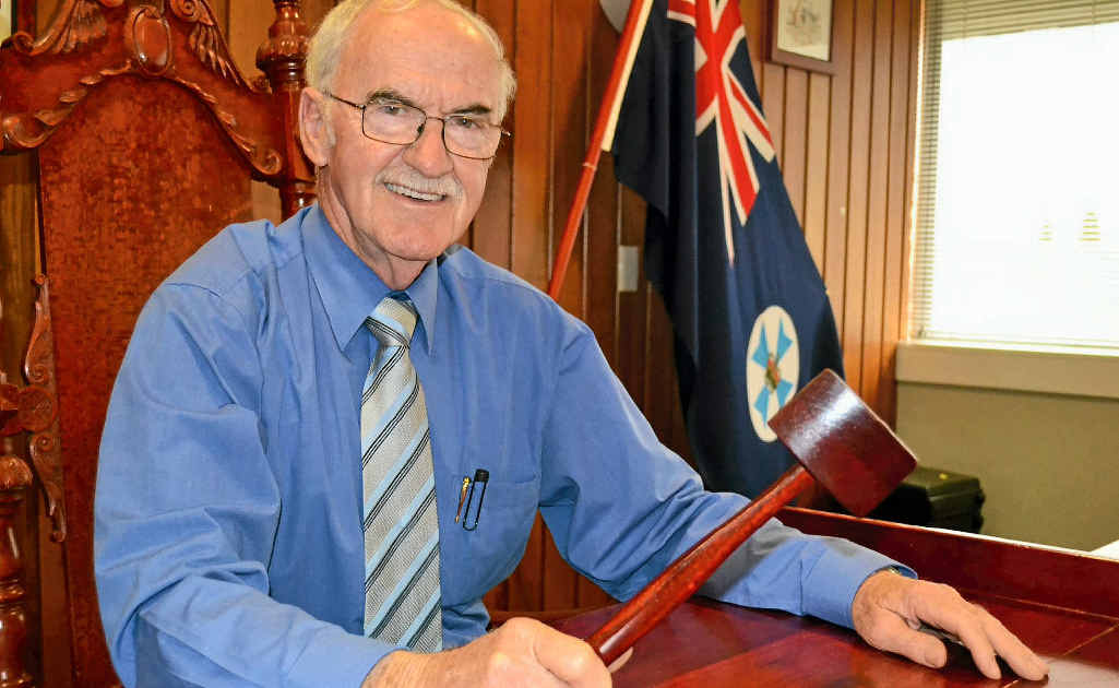 Retiring Southern Downs Regional Council mayor, Ron Bellingham.