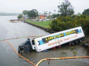 Truck driver's lucky escape