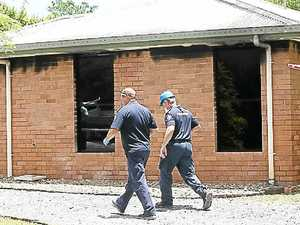 Fire destroys couple's first home