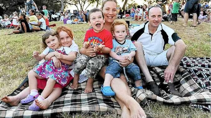 Chloe Peacock, Molly McEldowney, Seamus McEldowney, Nicole McEldowney, Rory McEldowney and Aidan McEldowney at the Carols By The Sea held at the Innes Park Reserve.