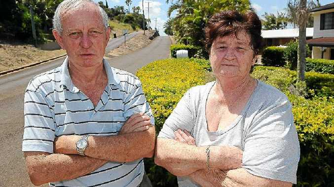 The Hummock residents Rob Ellis and Ellen Whan found the recent hooliganism very disturbing in what is usually a peaceful area.