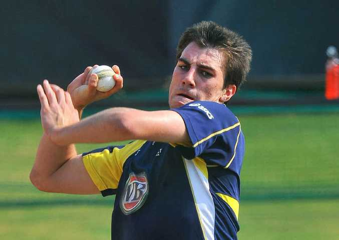 Pat Cummins bowls during a training session in Centurion ahead of the first one-day international against South Africa recently.