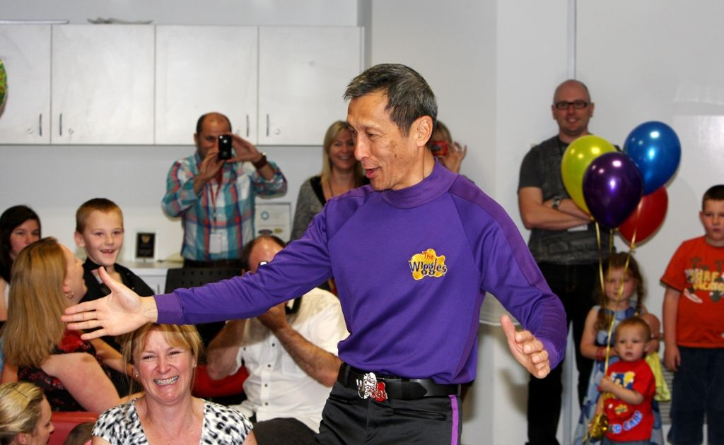 Jeff Fatt, when The Wiggles visited HOT91 FM radio station last year.