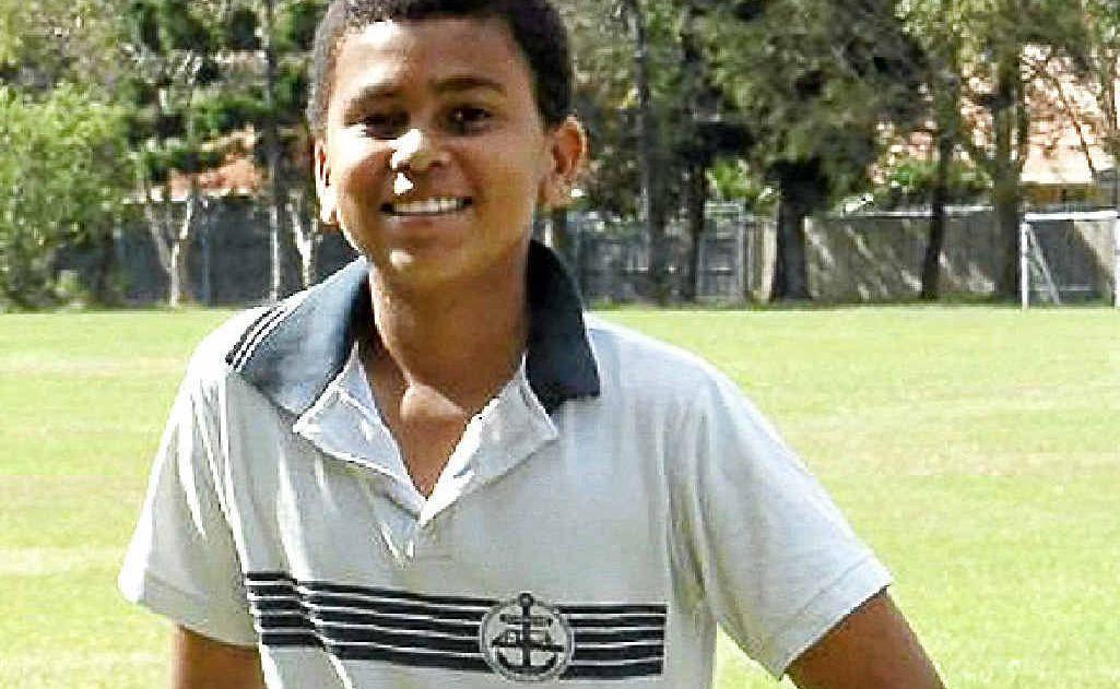 Life's a ball for Centaur Public School student Lawrence Miles-Mwangangi.