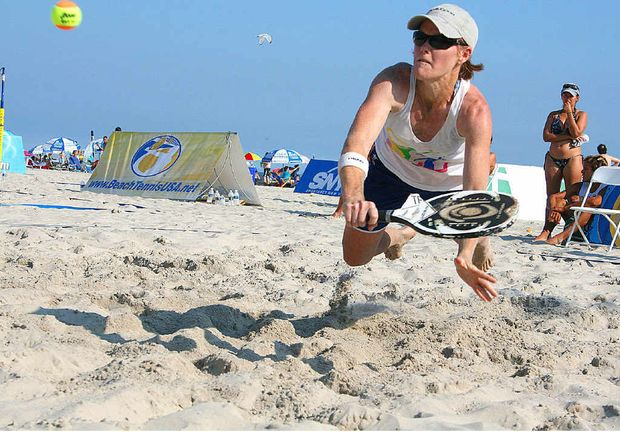 Former Maryborough resident Nadia Johnson is one of the best beach tennis players in the world after a great win on the island of Aruba.