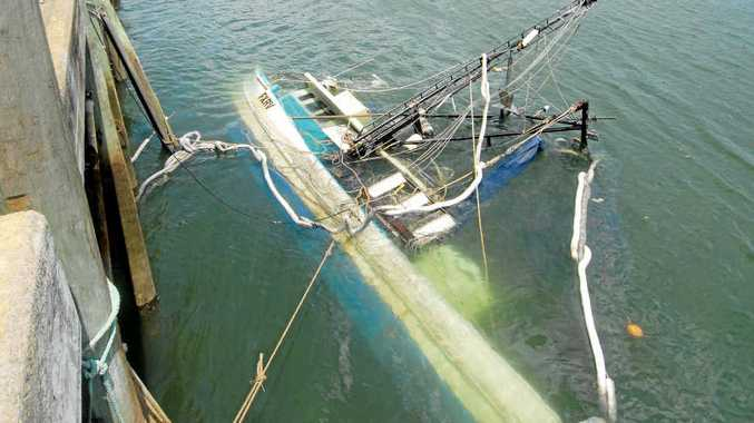 Investigations are under way to determine why a Mackay man's fishing boat sank in the Pioneer River. The boat returned to the wharf with a load of prawns and bugs on Sunday and sank early Monday morning.