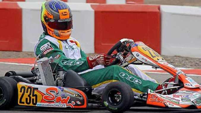 Tyler Greenbury races in the United Arab Emirates.