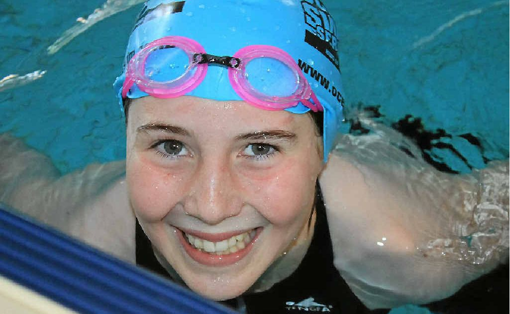 Ella Hudson was a record breaker at St Mary's house swimming.