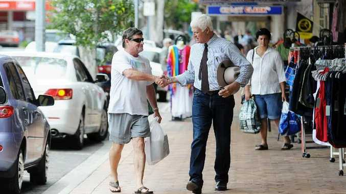 Federal independent Bob Katter in Gympie.
