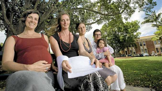 Ali Hookham of Lismore, Tamlin Mackenzie of The Channon and Maree Parker of Ballina are petitioning to allow for publicly funded homebirths in the Northern Rivers.