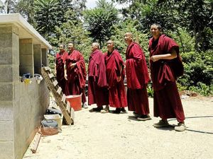 Tibetan monks to celebrate peace Stupa at Crystal Castle