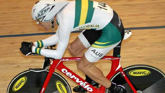 David Nicholas rides in the Oceania track championships in New Zealand, where he qualified for the world championships in Los Angeles next year.