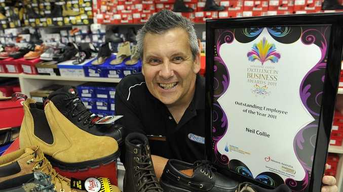 The Coast's most outstanding employee for 2011, Neil Collie, of FootWorks Nambour.