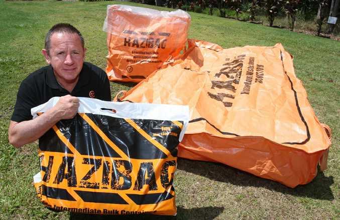 Ken Webb with the Hazibag.