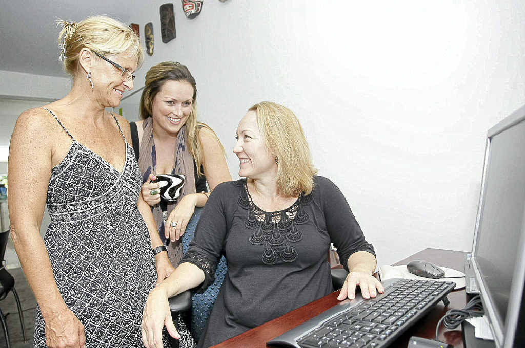Rebecca Grisman, right, with Mandy Hegarty and Kelly Pendlebury are work colleagues and friends.
