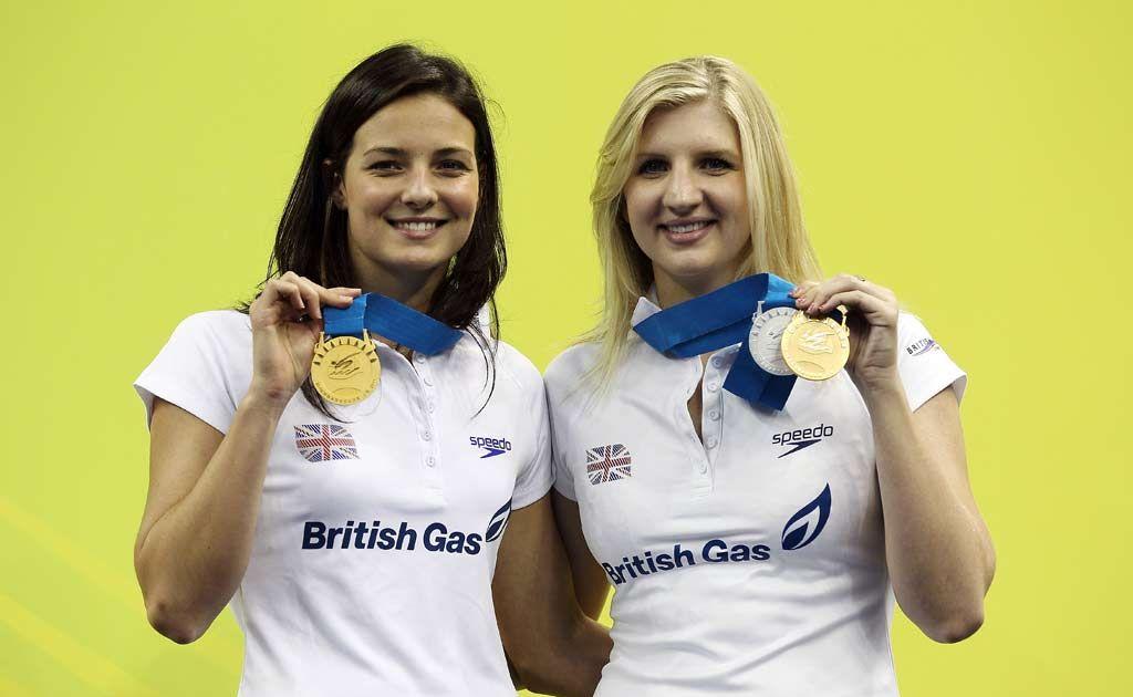 Keri-Anne Payne and Rebecca Adlington.