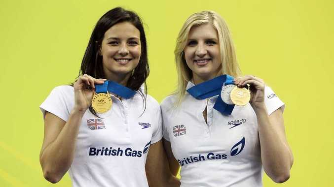 Keri-Anne Payne and Rebecca Adlington.