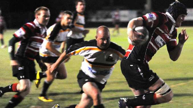 Barbarians' Tom Marland breaks through the Turtles' defence in a recent clash.