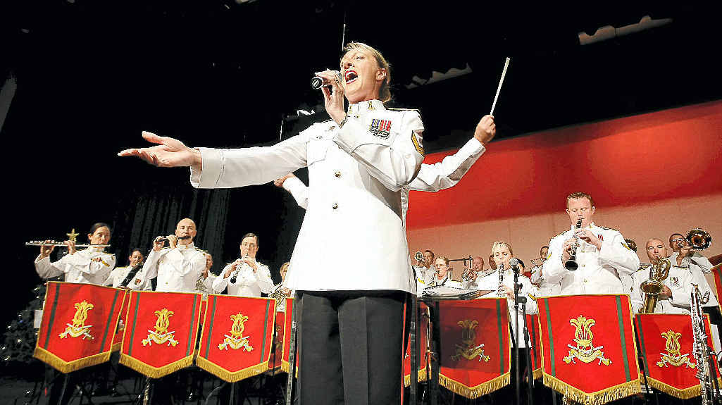 Simone Dew from the Australian Army Band Brisbane sings to the Robina Community Centre at its last Gold Coast concert for 2011.