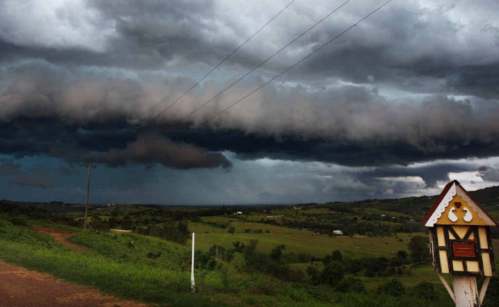 A storm moves through the Lockyer Valley.