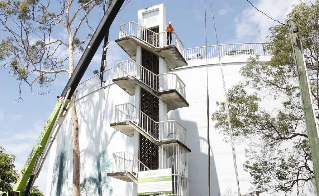 Queensland Urban Utilities has started upgrading the water tower viewing platform at Denmark Hill.