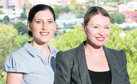 Hopefuls: New Candidate for Bundamba, Angela Watson (left), with fellow Independent Patricia Petersen.