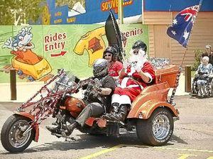 Bikers help Santa