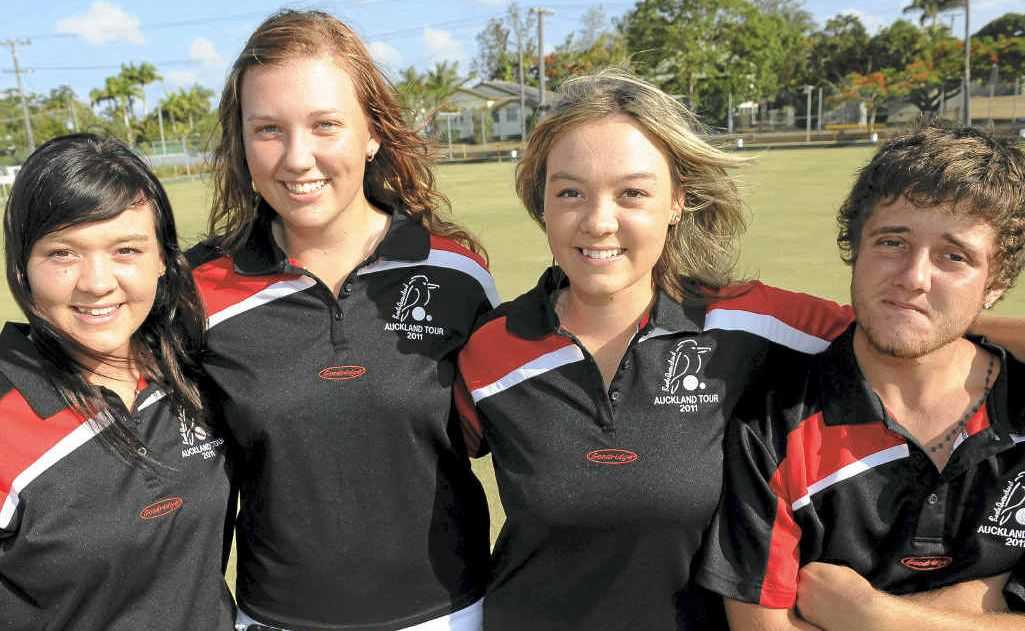 Cassandra Millerick, Rikki-Lee Kemp, Bolivia Millerick and Kyle Franks are off to Auckland to compete against New Zealand in the Bowls Queensland Development Tour.
