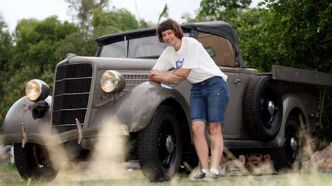 Jenny Catalano shows off her pride and joy, her 1935 Ford V8 utility.