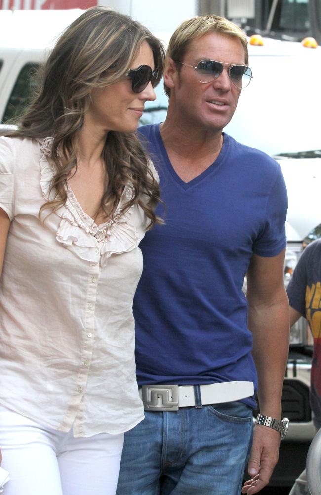 Elizabeth Hurley and Shane Warne.
