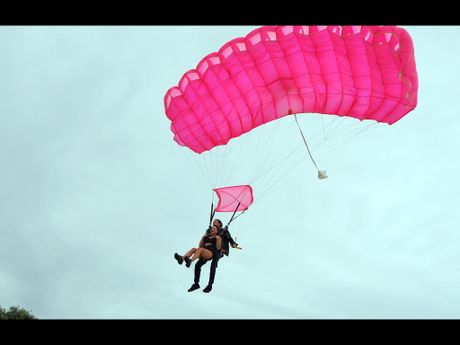 Parachuting is a popular bucket list must do.