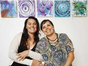 Mum and daughter share art to art